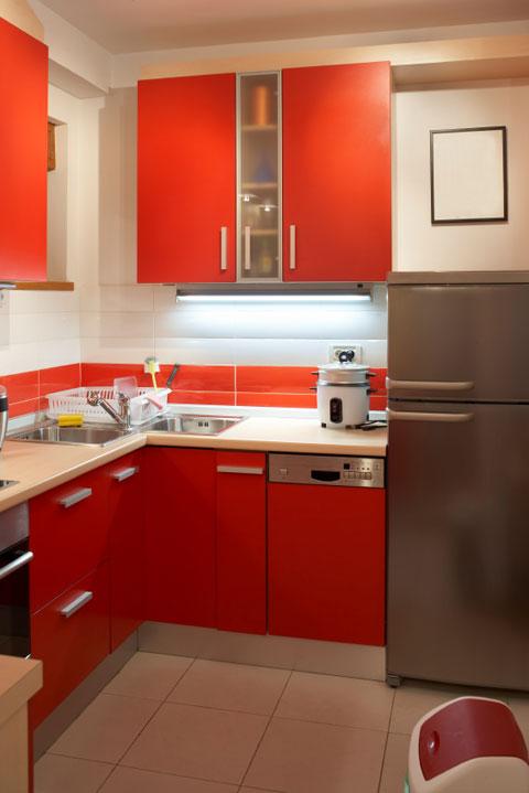 decoracion cocina color rojo