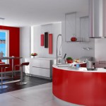 Fotos de cocinas con decorado color rojo