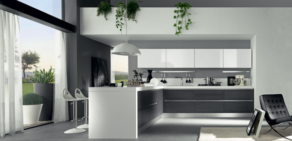 Decoraci n de cocinas ultramodernas blancas for Casa minimalista interior blanco
