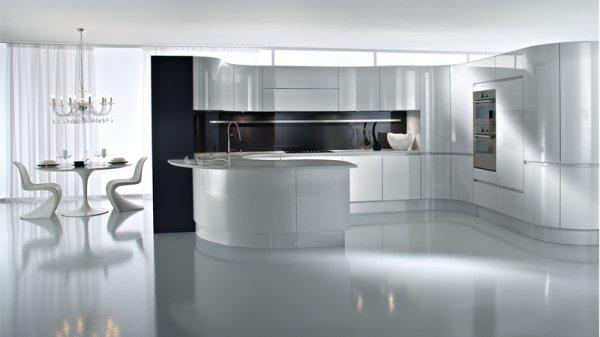 Decoración de cocinas ultramodernas blancas