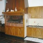 Asador dentro de la cocina