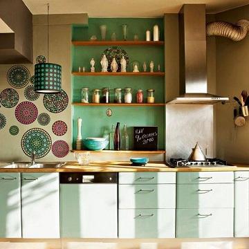 Dise os de cocinas con anaqueles y estantes for Cocinas integrales deco