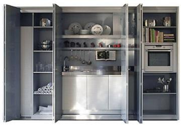 Soluciones ocultas para espacios reducidos for Cocinas en espacios reducidos