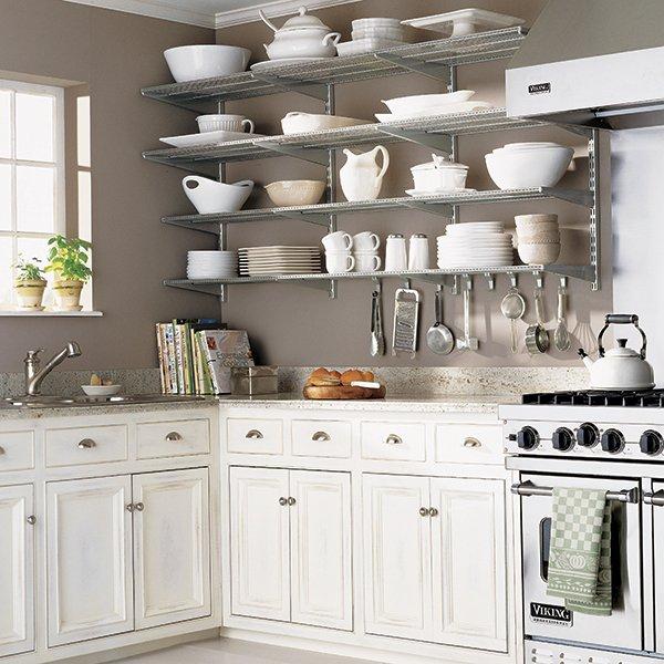 Open Kitchen Wall Units: Diseños De Cocinas Con Anaqueles Y Estantes
