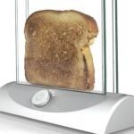 Tostadora de pan estilo transparente