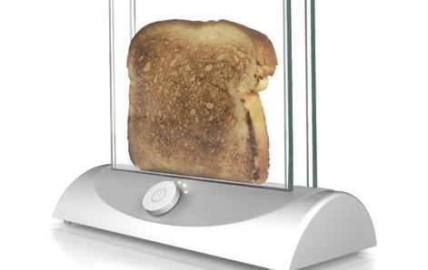 Tostadora de pan transparente