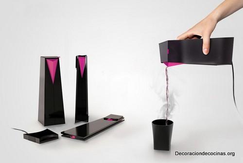 Hervidora de agua portatil que se puede doblar
