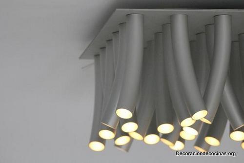 Lámparas en forma de pasto al viento hechas de acero inoxidable ideales para tu cocina (2)