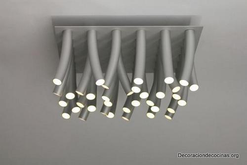 Lámparas en forma de pasto al viento hechas de acero inoxidable ideales para tu cocina (1)