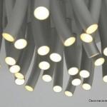 Lámparas en forma de pasto al viento hechas de acero inoxidable ideales para tu cocina