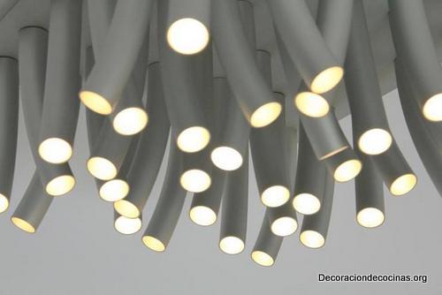 Lámparas en forma de pasto al viento hechas de acero inoxidable ideales para tu cocina (3)
