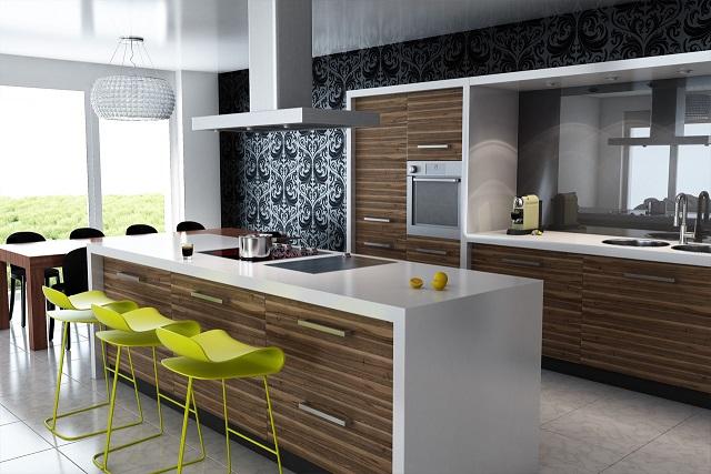 Decoración de interiores modernas para cocinas