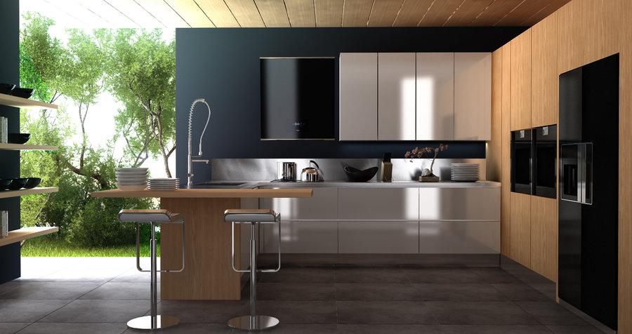 Decoraci n de interiores modernas para cocinas for Interiores de cocinas modernas
